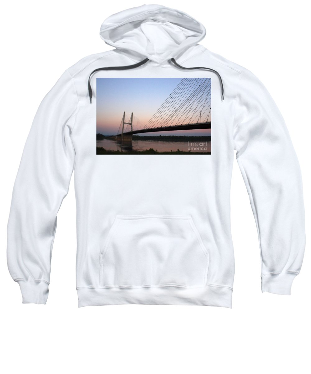 Architecture Sweatshirt featuring the photograph Modified Suspension by Alan Look
