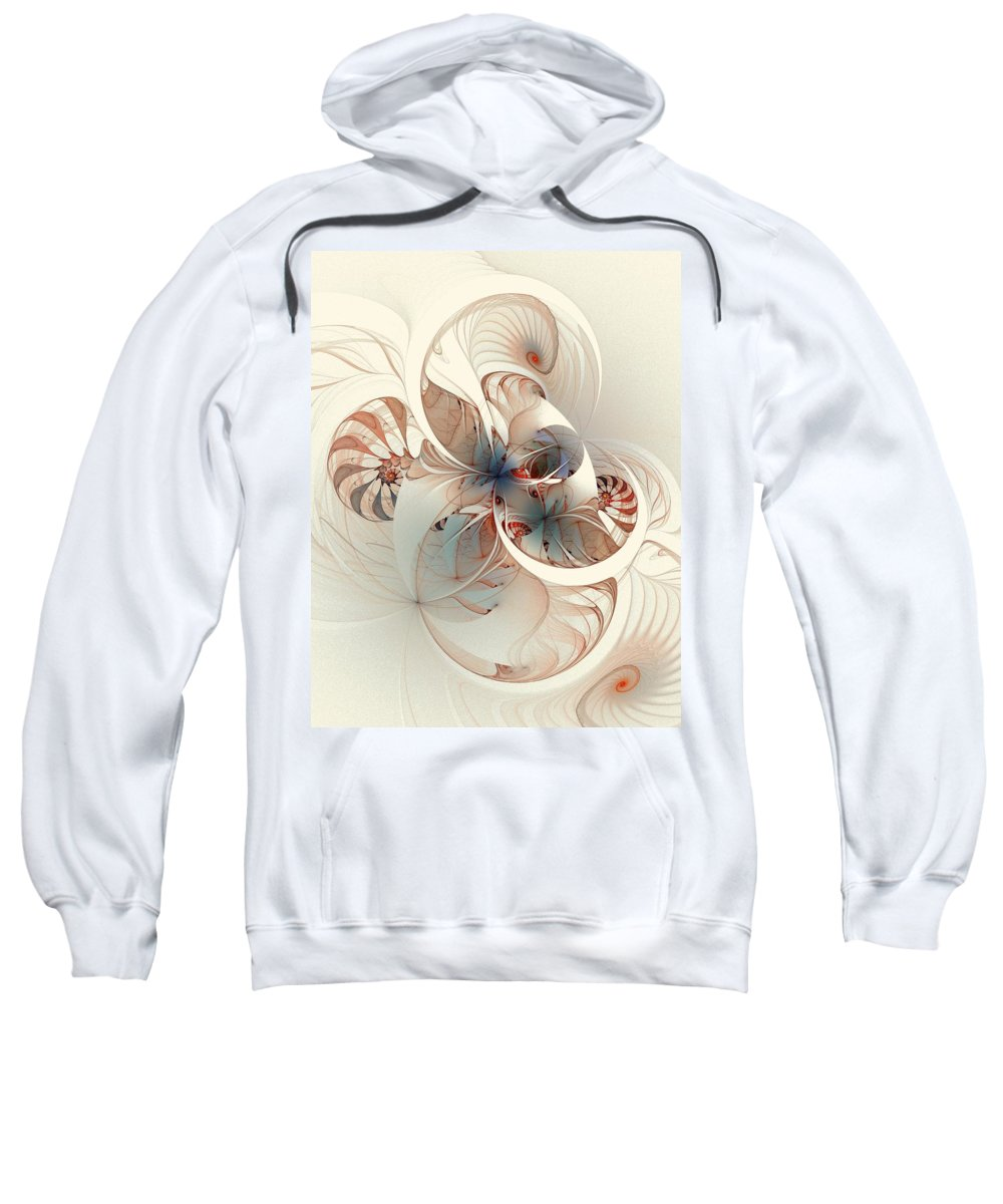 Sweatshirt featuring the digital art Mollusca by Amanda Moore