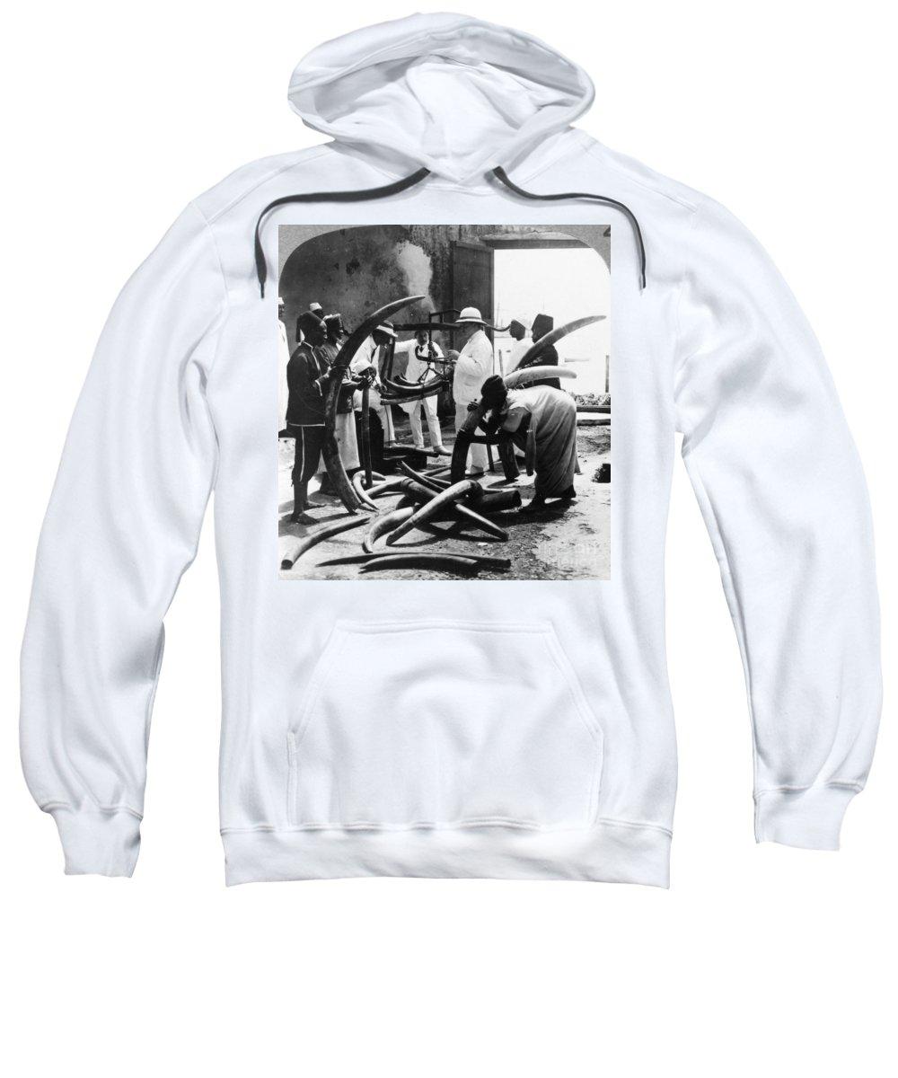 1900 Sweatshirt featuring the photograph Mombasa: Ivory Trade by Granger