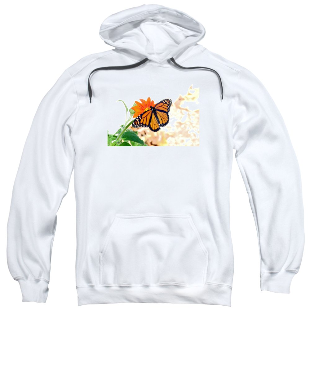 Butterflies Sweatshirt featuring the photograph Monarch by Mary Halpin