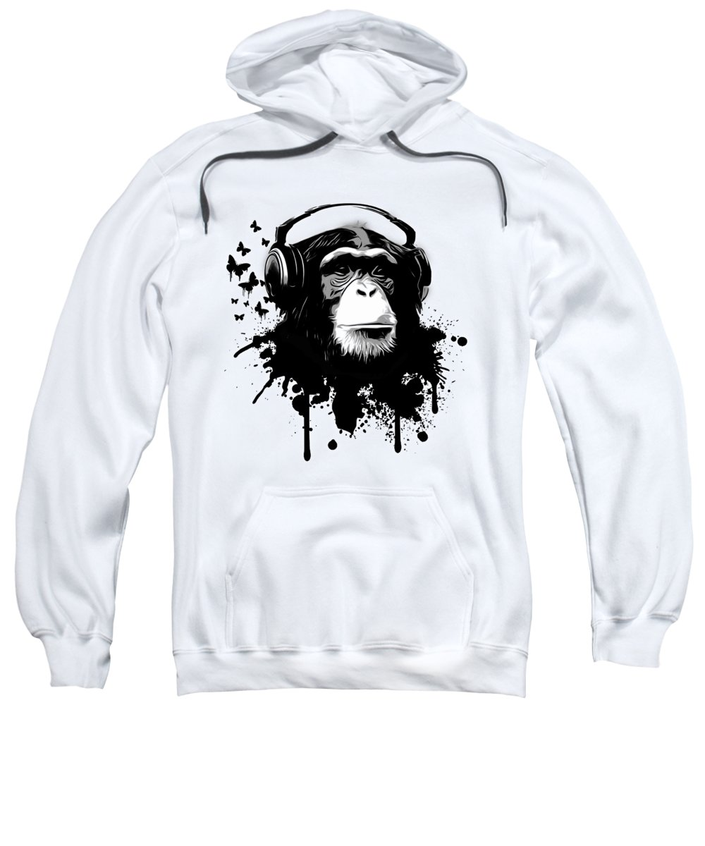 Black Hooded Sweatshirts T-Shirts