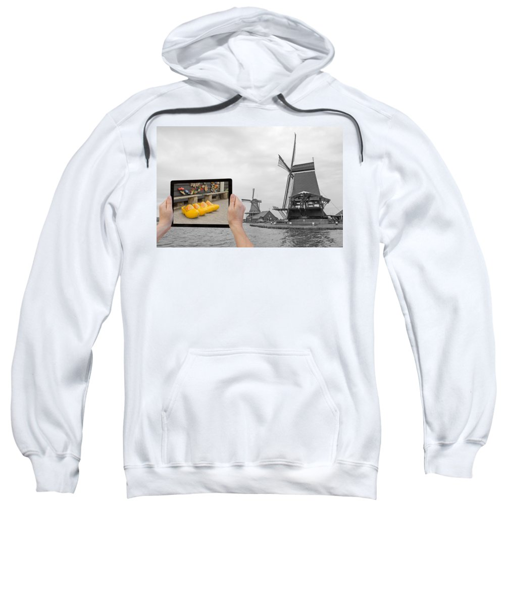 Netherlands Sweatshirt featuring the photograph Monochromatic Concept Travel To Netherlands by Jaroslav Frank
