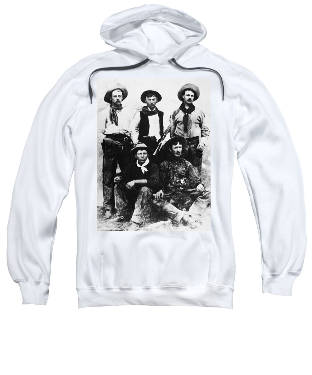 19th Century Sweatshirt featuring the photograph Montana Cowboys by Granger