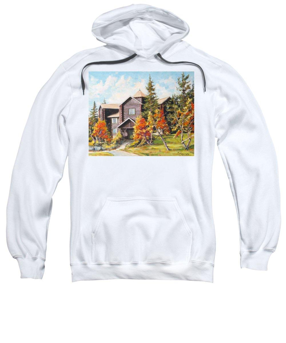 Landscape Sweatshirt featuring the painting Montebello by Richard T Pranke