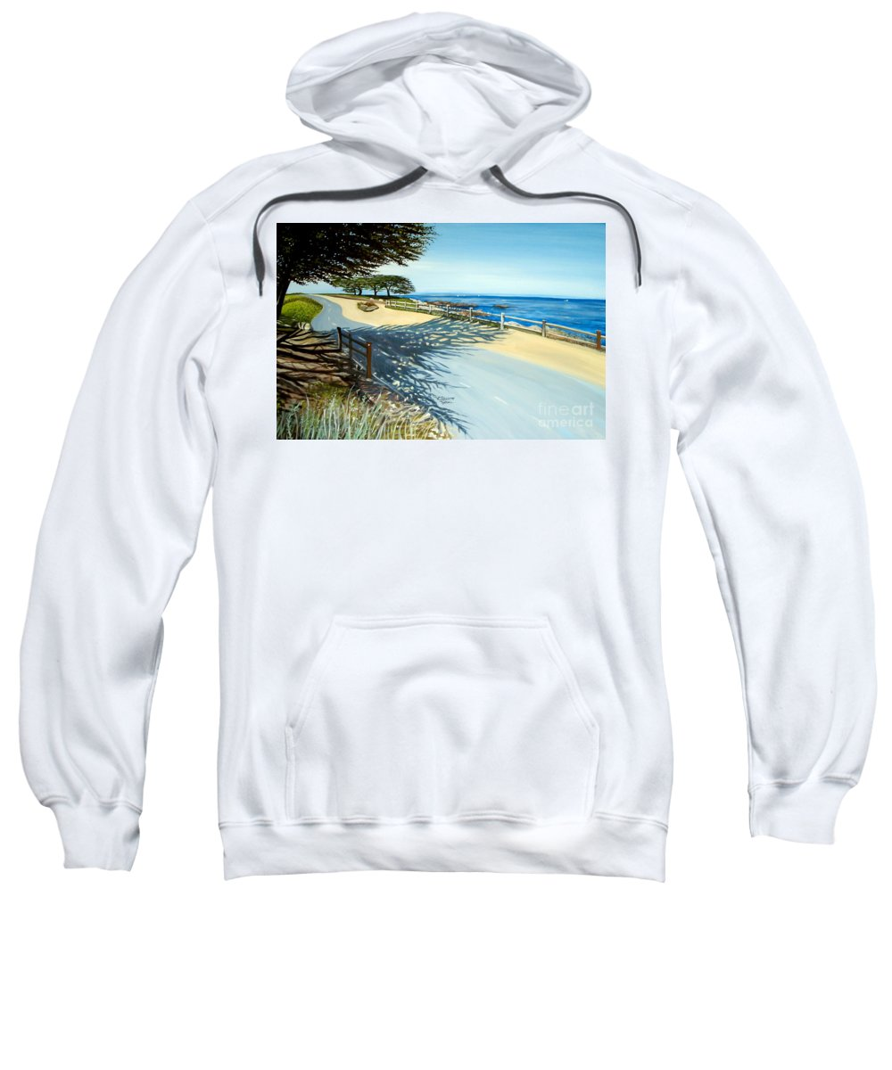 Landscape Sweatshirt featuring the painting Monterey Shadows by Elizabeth Robinette Tyndall