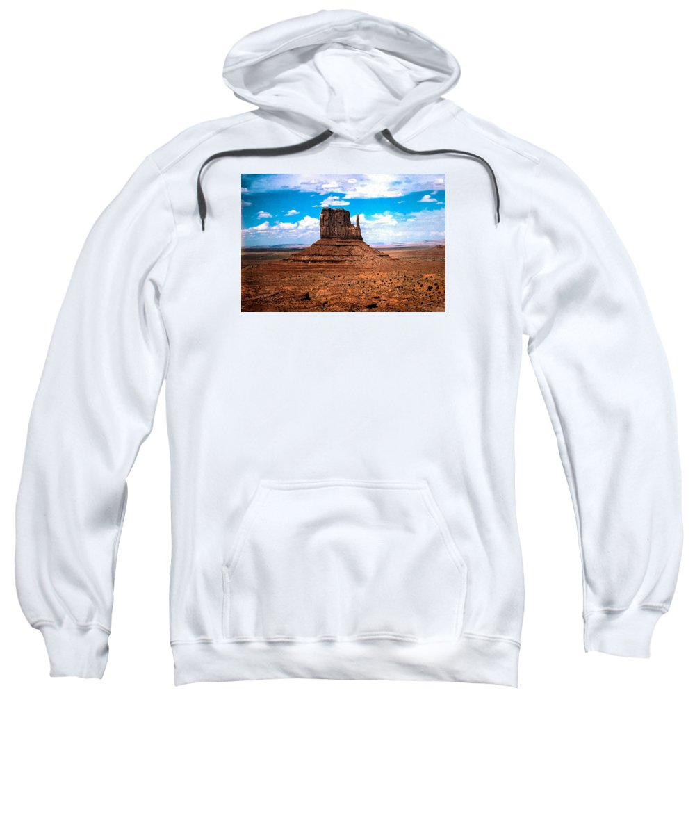 Monument Valley Sweatshirt featuring the photograph Monument Valley Monolith by Tom Zukauskas