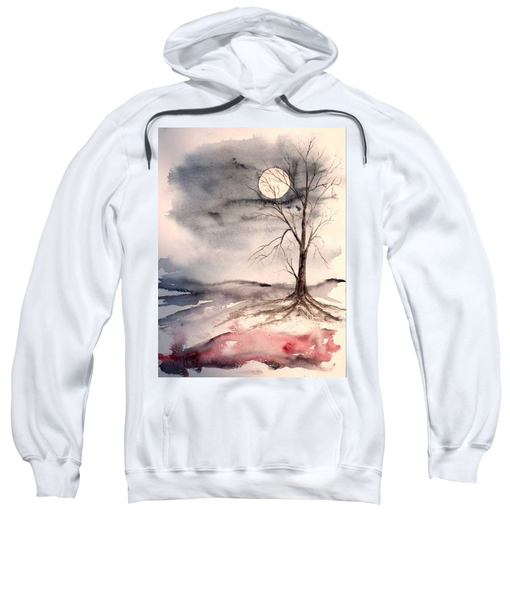 Moon Sweatshirt featuring the painting Moon Light by Derek Mccrea