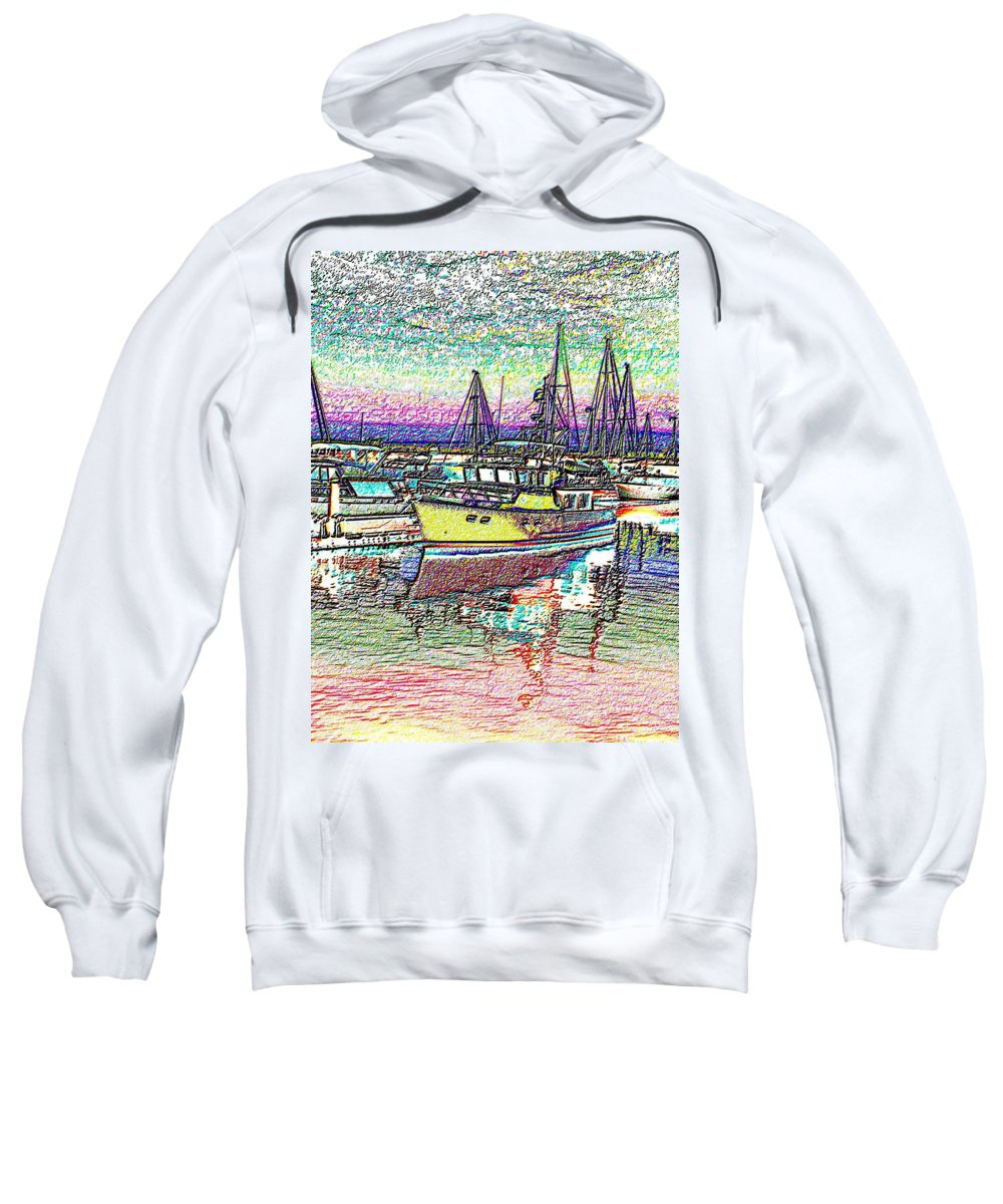 Seattle Sweatshirt featuring the photograph Moorage by Tim Allen