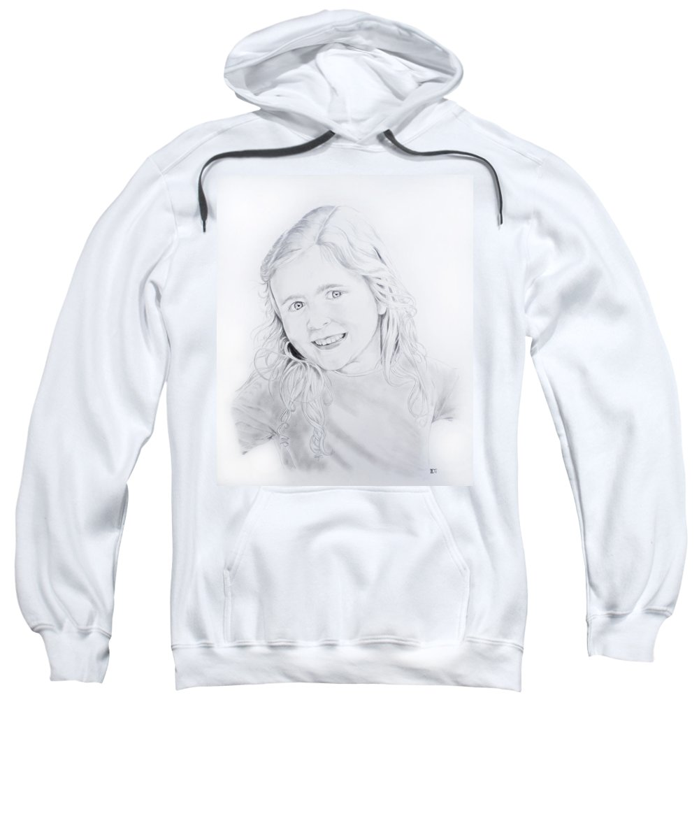 Maggie Sweatshirt featuring the drawing More Maggie by Chris Randall