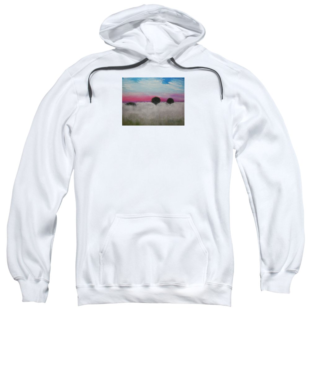 Impressionism Sweatshirt featuring the painting Morning Dew And I'm Thinking Of You by J R Seymour