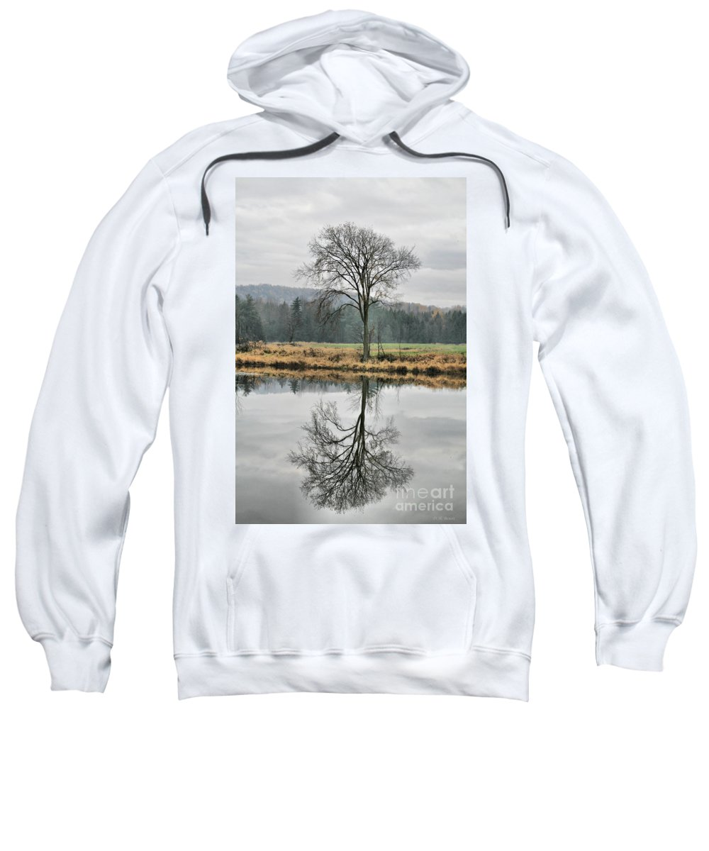 Reflections Sweatshirt featuring the photograph Morning Haze And Reflections by Deborah Benoit