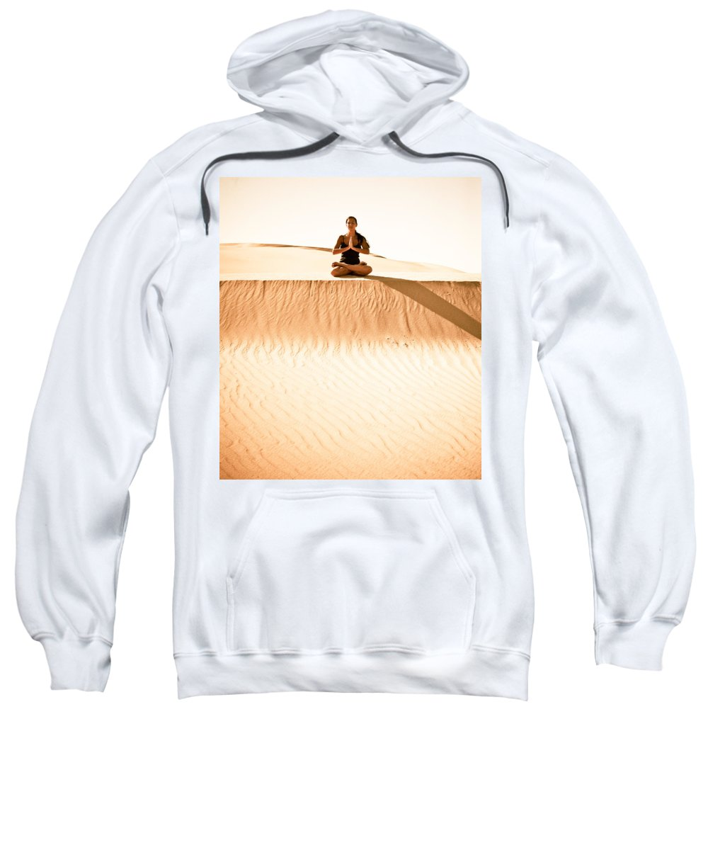 Yoga Sweatshirt featuring the photograph Morning Meditation by Scott Sawyer