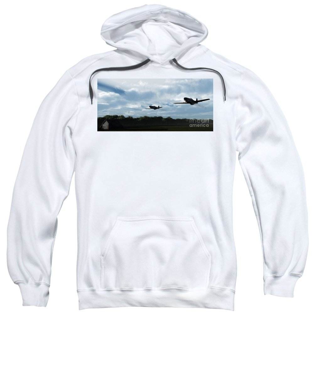 Aircraft Sweatshirt featuring the digital art Morning Run by Richard Rizzo