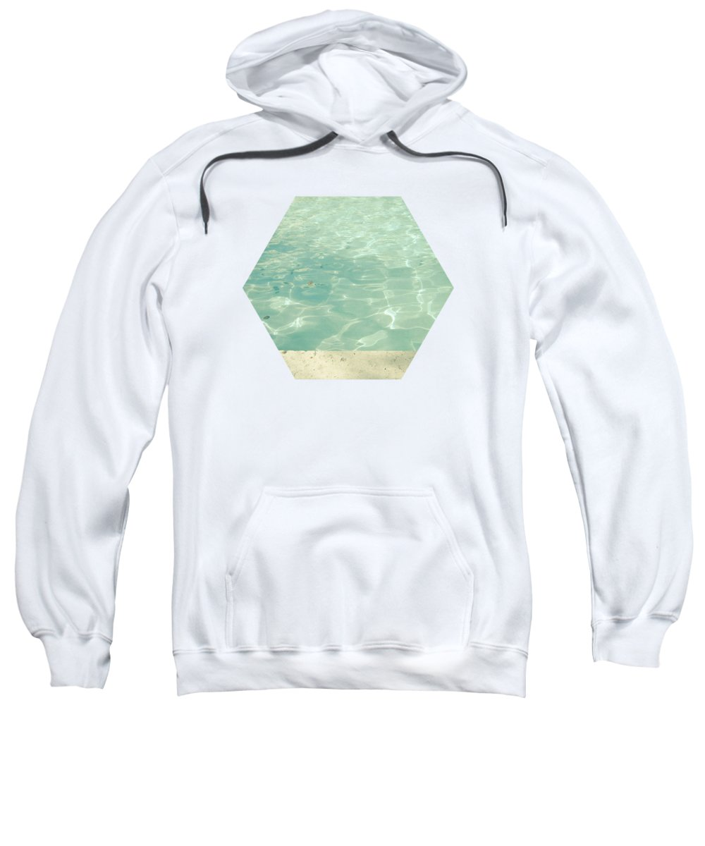 Swimming Pool Sweatshirt featuring the photograph Morning Swim by Cassia Beck