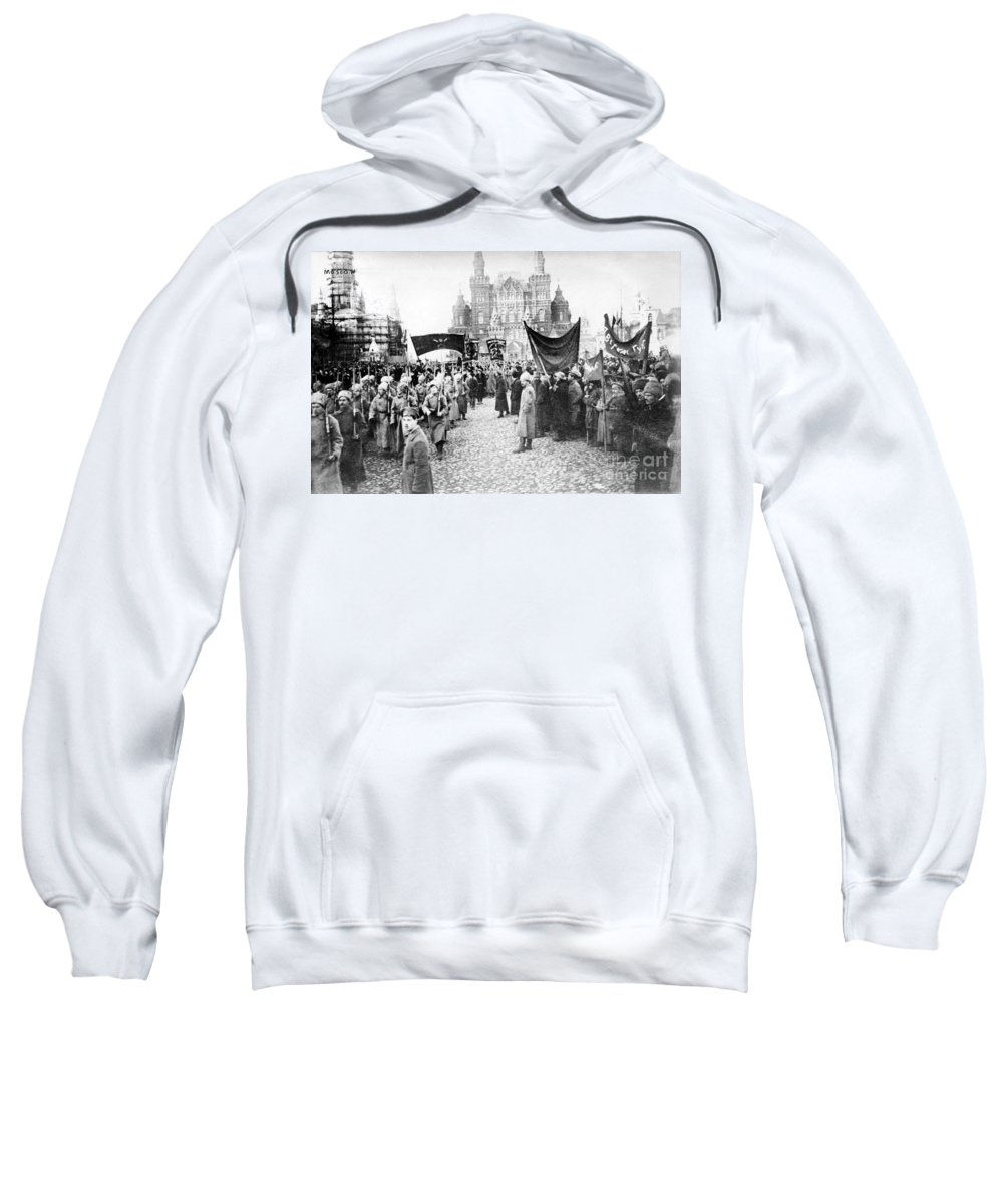 1920 Sweatshirt featuring the photograph Moscow: Red Army, C1920 by Granger