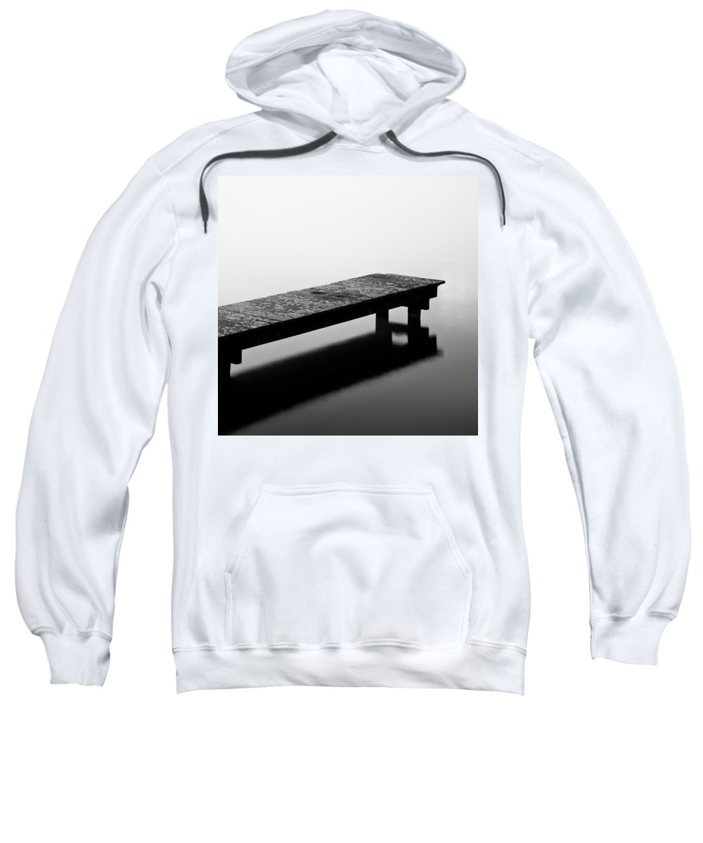 Decking Sweatshirt featuring the photograph Moss On Deck by Dave Bowman