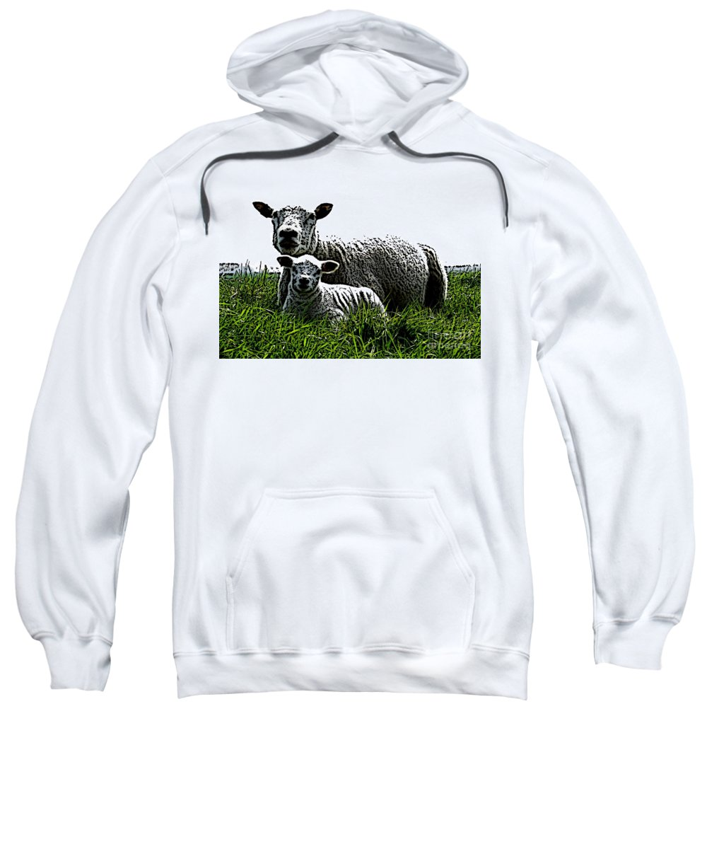 Mother Sweatshirt featuring the mixed media Motherly Love by Steve K