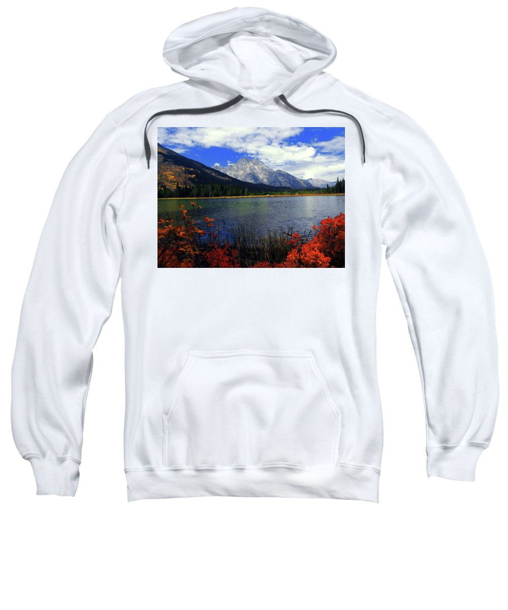 Mount Moran Sweatshirt featuring the photograph Mount Moran In The Fall by Raymond Salani III