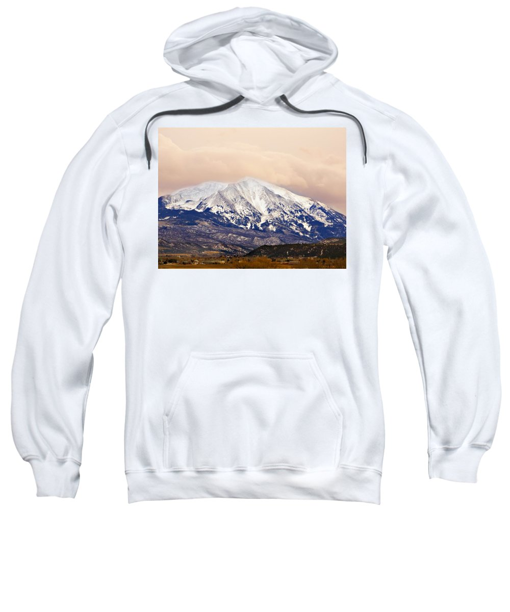 Americana Sweatshirt featuring the photograph Mount Sopris by Marilyn Hunt