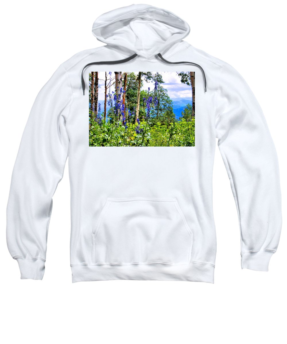 Mountain Sweatshirt featuring the photograph Mountain Meadow by Kristin Elmquist