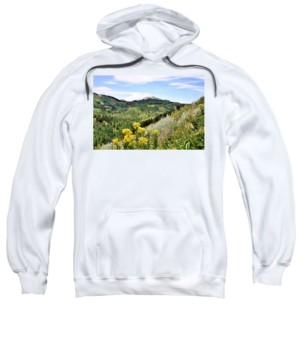 Mountain Sweatshirt featuring the photograph Mountain Meadows by Kristin Elmquist