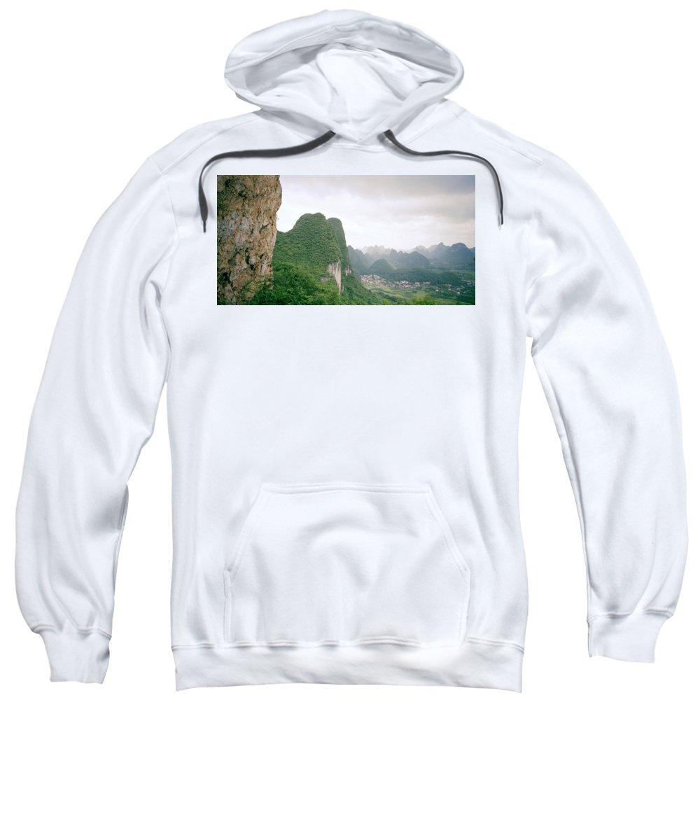 China Sweatshirt featuring the photograph China Mountain View by Shaun Higson