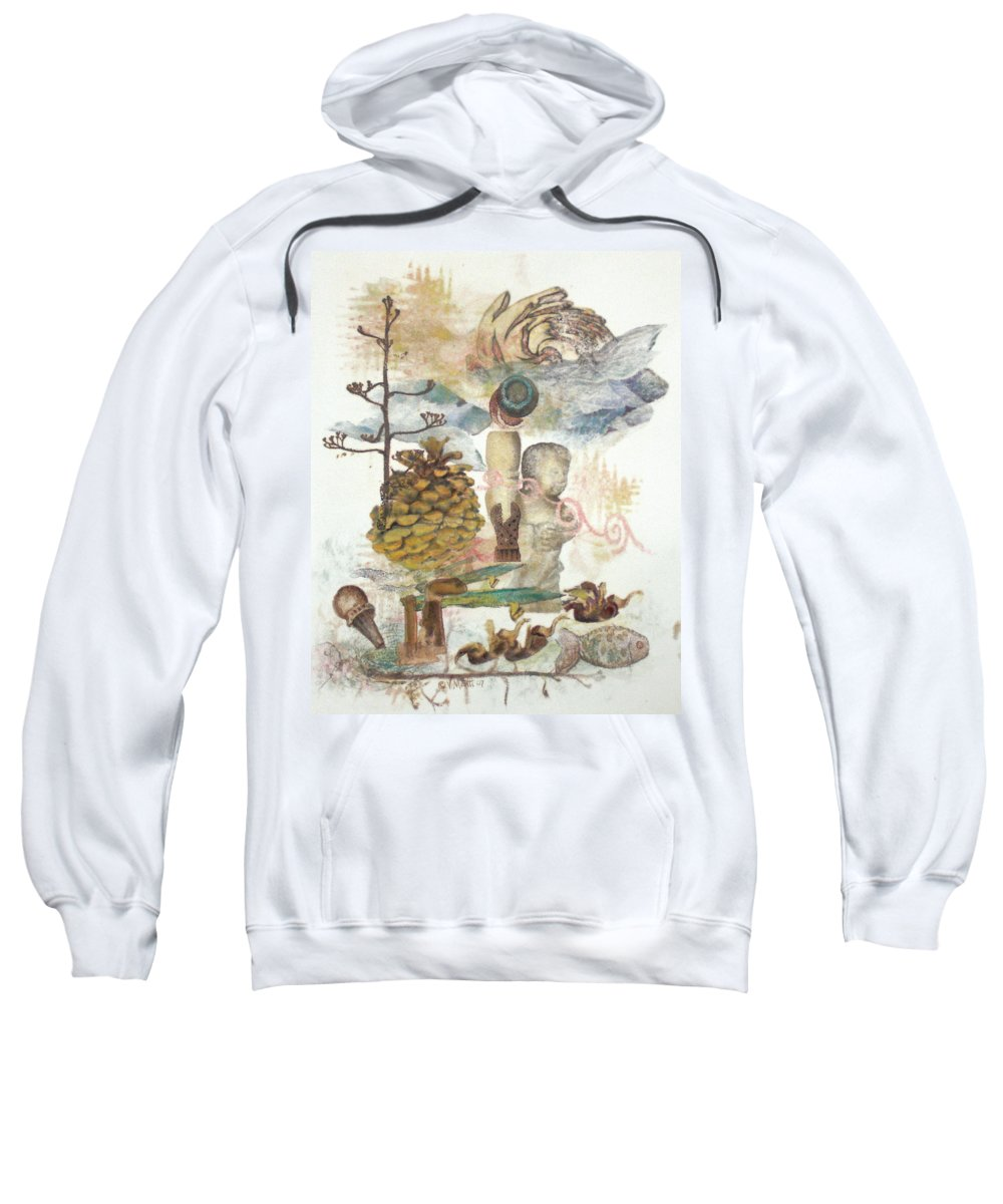 Abstract Sweatshirt featuring the painting Move Along by Valerie Meotti