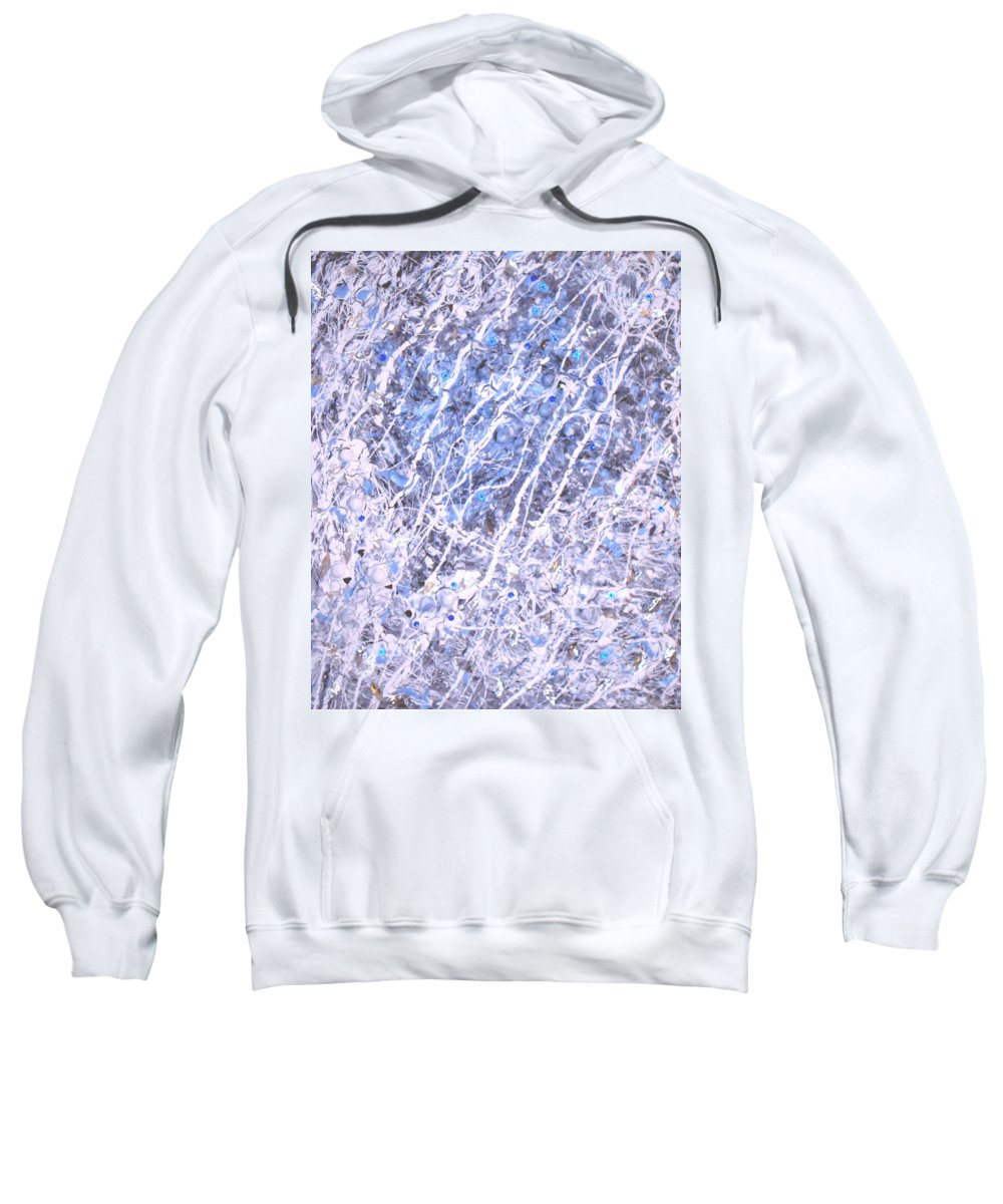 Moveonart! Digital Gallery Sweatshirt featuring the digital art Moveonart Blue Cool Purifying Soul by Jacob Kanduch