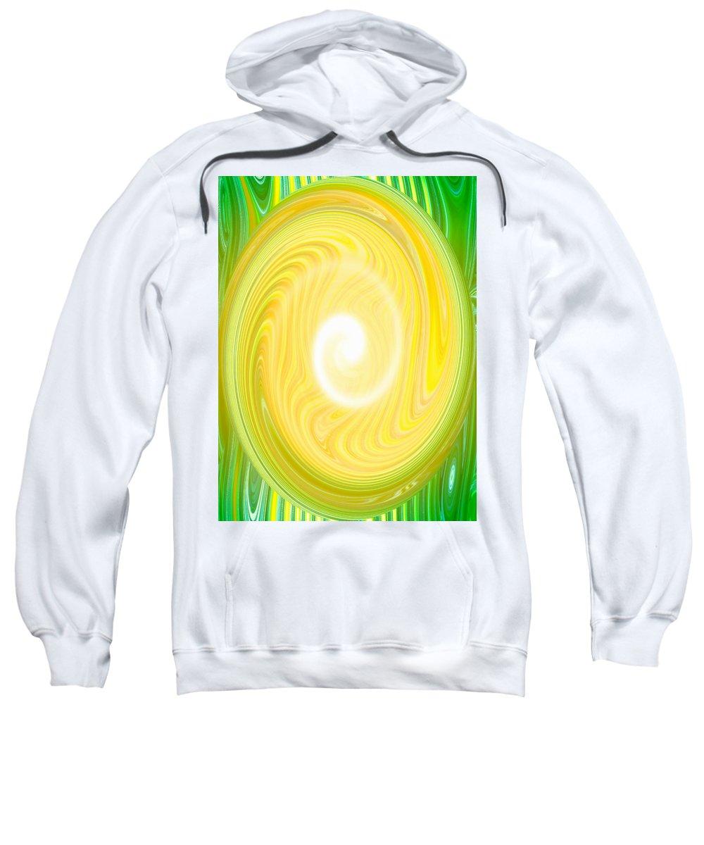 Moveonart! Global Gathering. San Francisco / New York Sweatshirt featuring the digital art Moveonart Bright Newness 1 by Jacob Kanduch