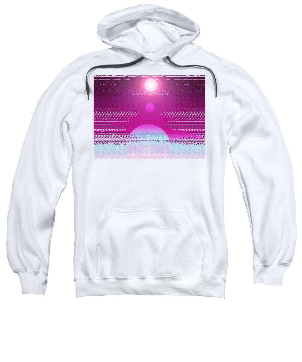 Moveonart! Digital Gallery Sweatshirt featuring the digital art Moveonart Cosmic Centering II by Jacob Kanduch
