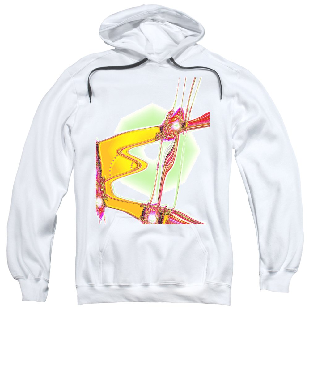 Moveonart! Digital Gallery Sweatshirt featuring the digital art Moveonart Creative Peaceful Creature One by Jacob Kanduch