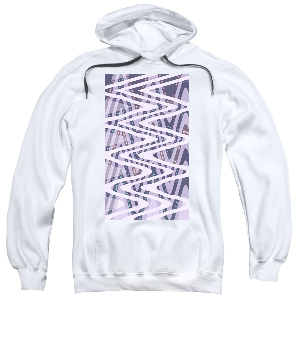 Moveonart Digital Gallery San Francisco California North Beach Jacob Kane Kanduch Sweatshirt featuring the digital art Moveonart Dreamers Waves by Jacob Kanduch