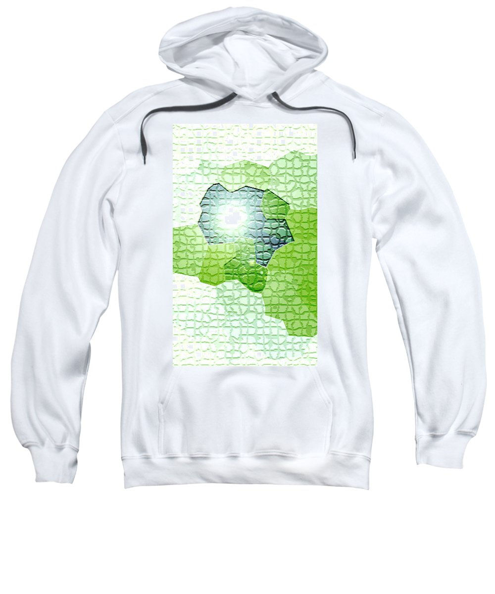 Moveonart! Digital Gallery Sweatshirt featuring the digital art Moveonart Going Green Is Good by Jacob Kanduch