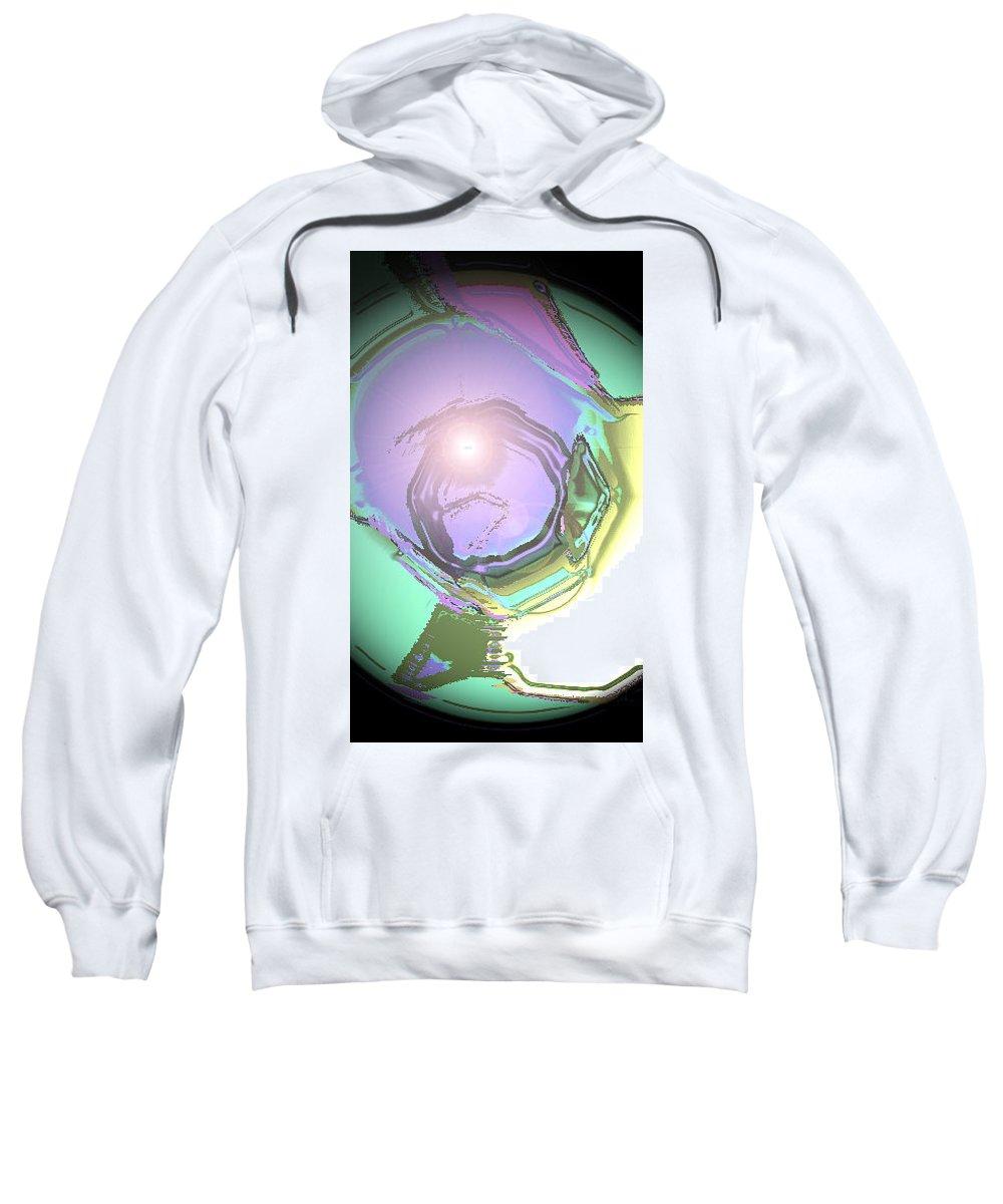 Moveonart! Digital Gallery Sweatshirt featuring the digital art Moveonart Good Consciousness For The World by Jacob Kanduch