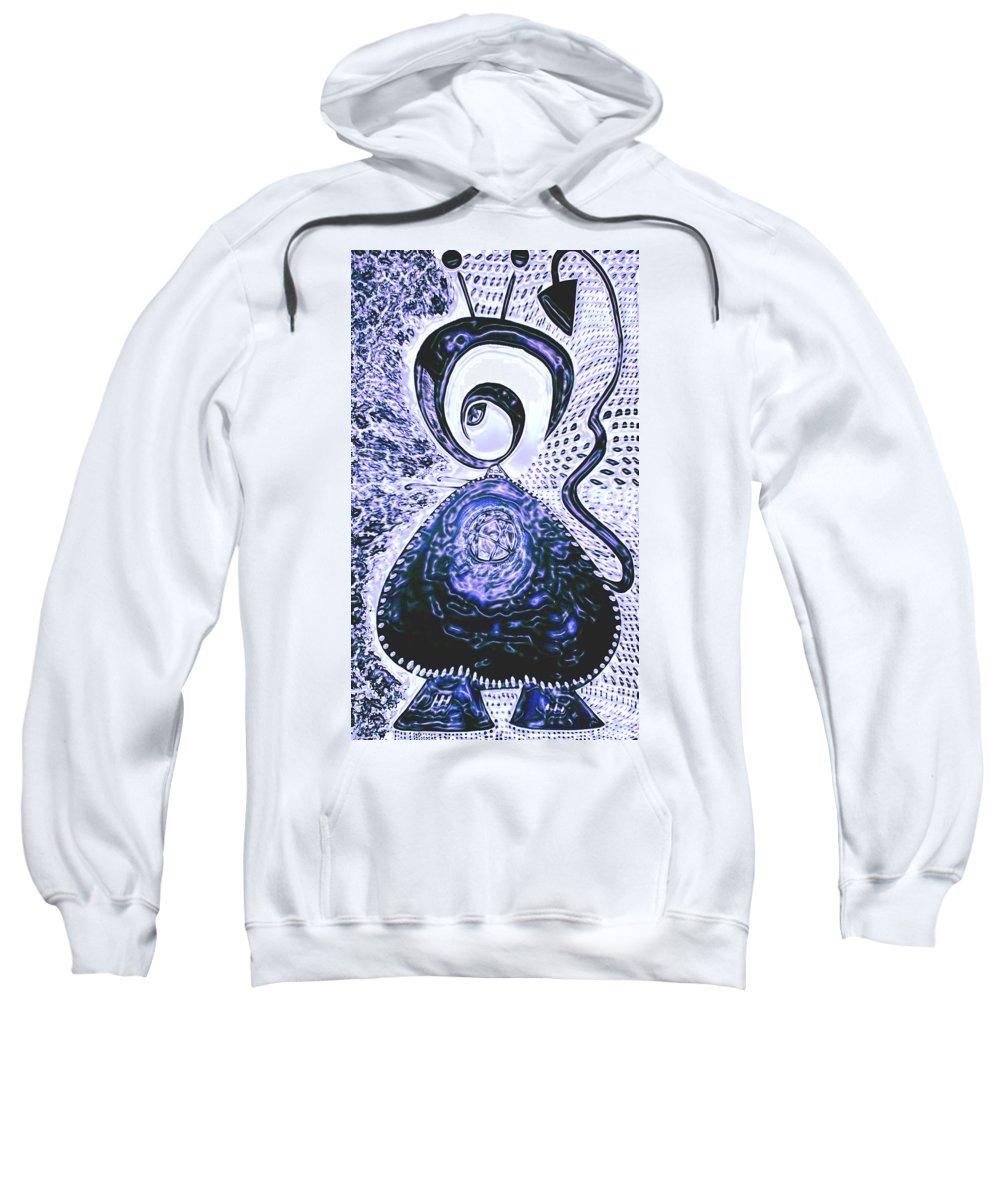 Moveonart! Digital Gallery Sweatshirt featuring the painting Moveonart Gothic Gertrude 1 by Jacob Kanduch