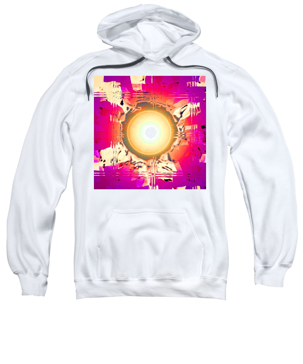 Moveonart! Digital Gallery Sweatshirt featuring the digital art Moveonart May This Gift Of Light Help You Along Lifes Way by Jacob Kanduch
