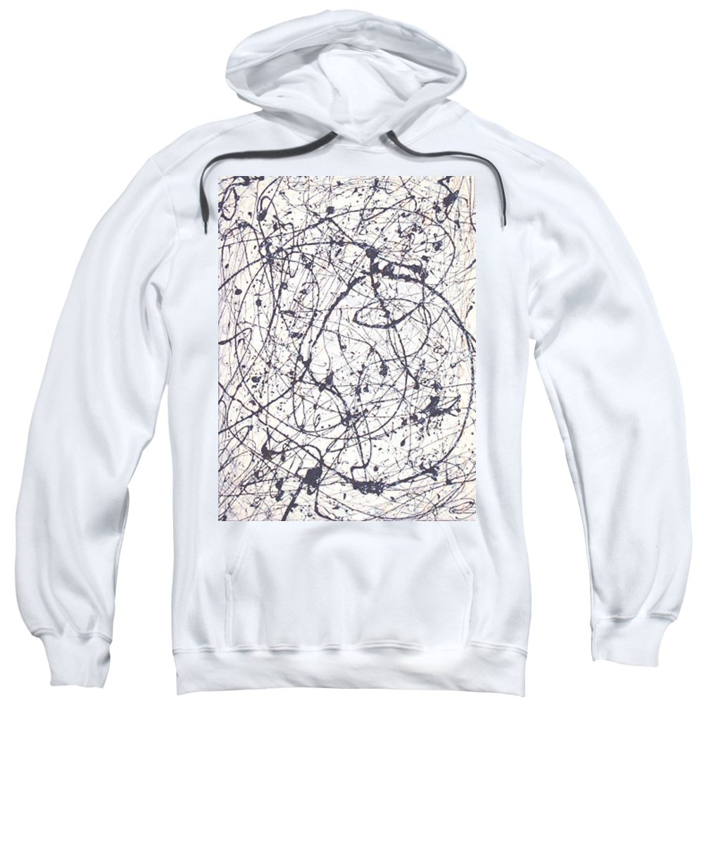 Moveonart! Digital Gallery Sweatshirt featuring the painting Moveonart Texture And Soul 1 by Jacob Kanduch