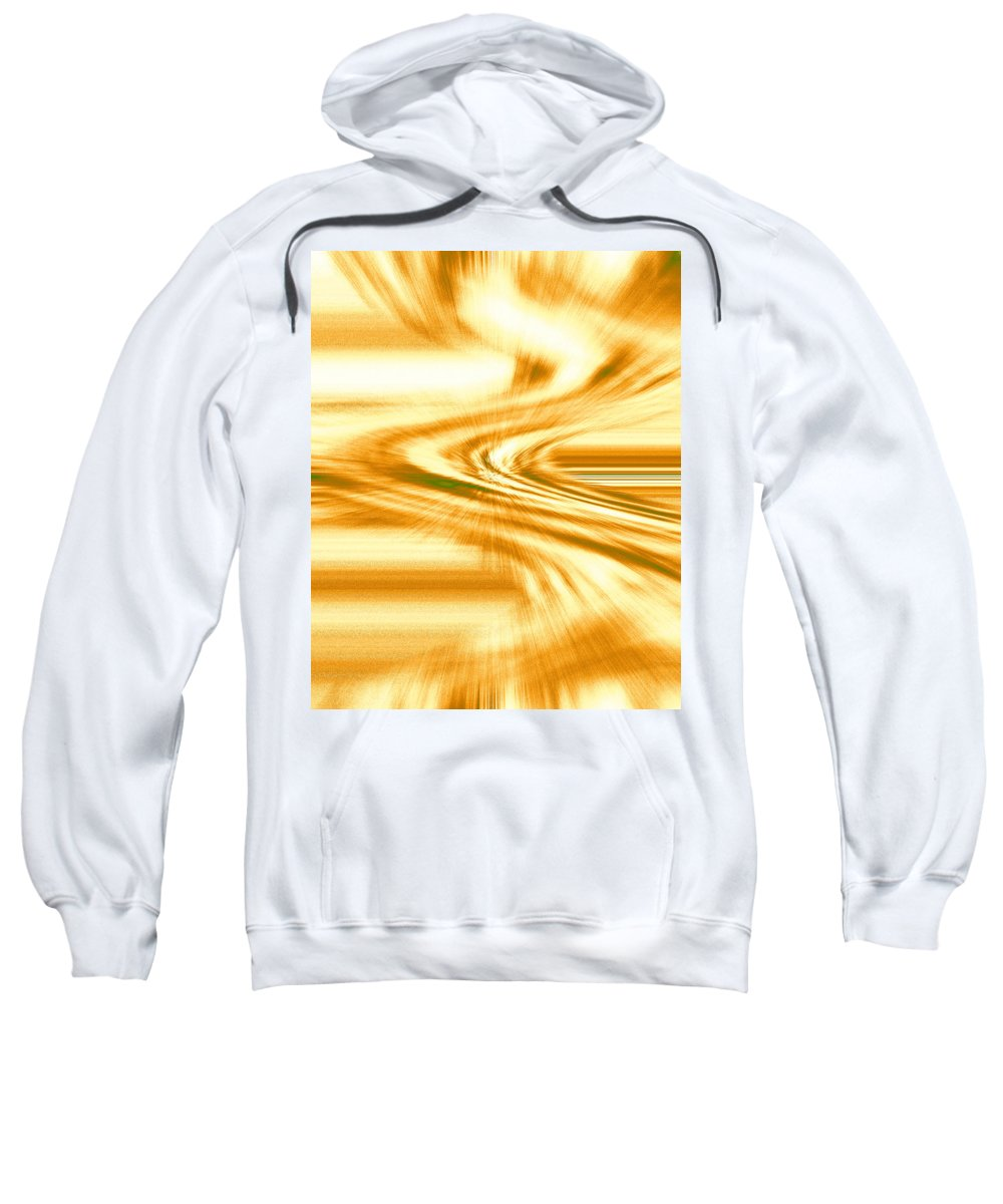 Moveonart! Digital Gallery Sweatshirt featuring the digital art Moveonart They Say The Streets Are Paved With Gold by Jacob Kanduch