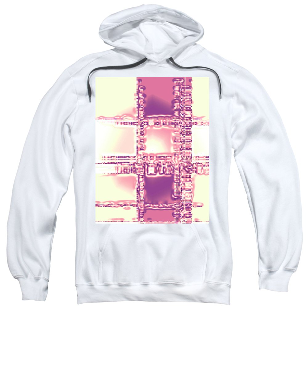 Moveonart! Digital Gallery Sweatshirt featuring the digital art Moveonart Thoughtful Intersections by Jacob Kanduch
