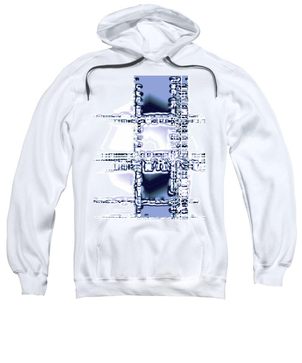 Moveonart! Digital Gallery Sweatshirt featuring the digital art Moveonart Time To Think by Jacob Kanduch
