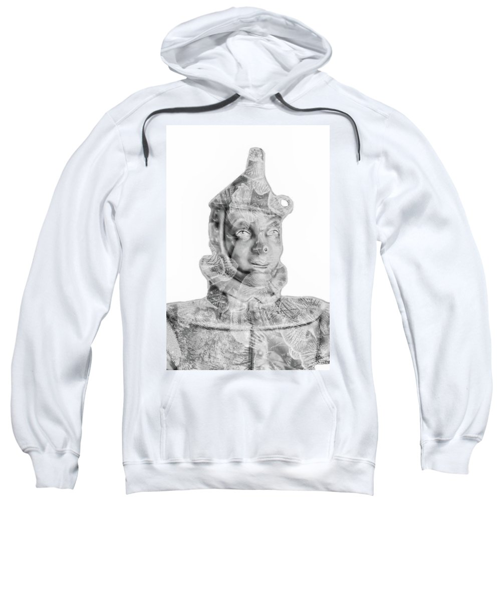 Whimsical Sweatshirt featuring the photograph Mr Tin by Pamela Williams