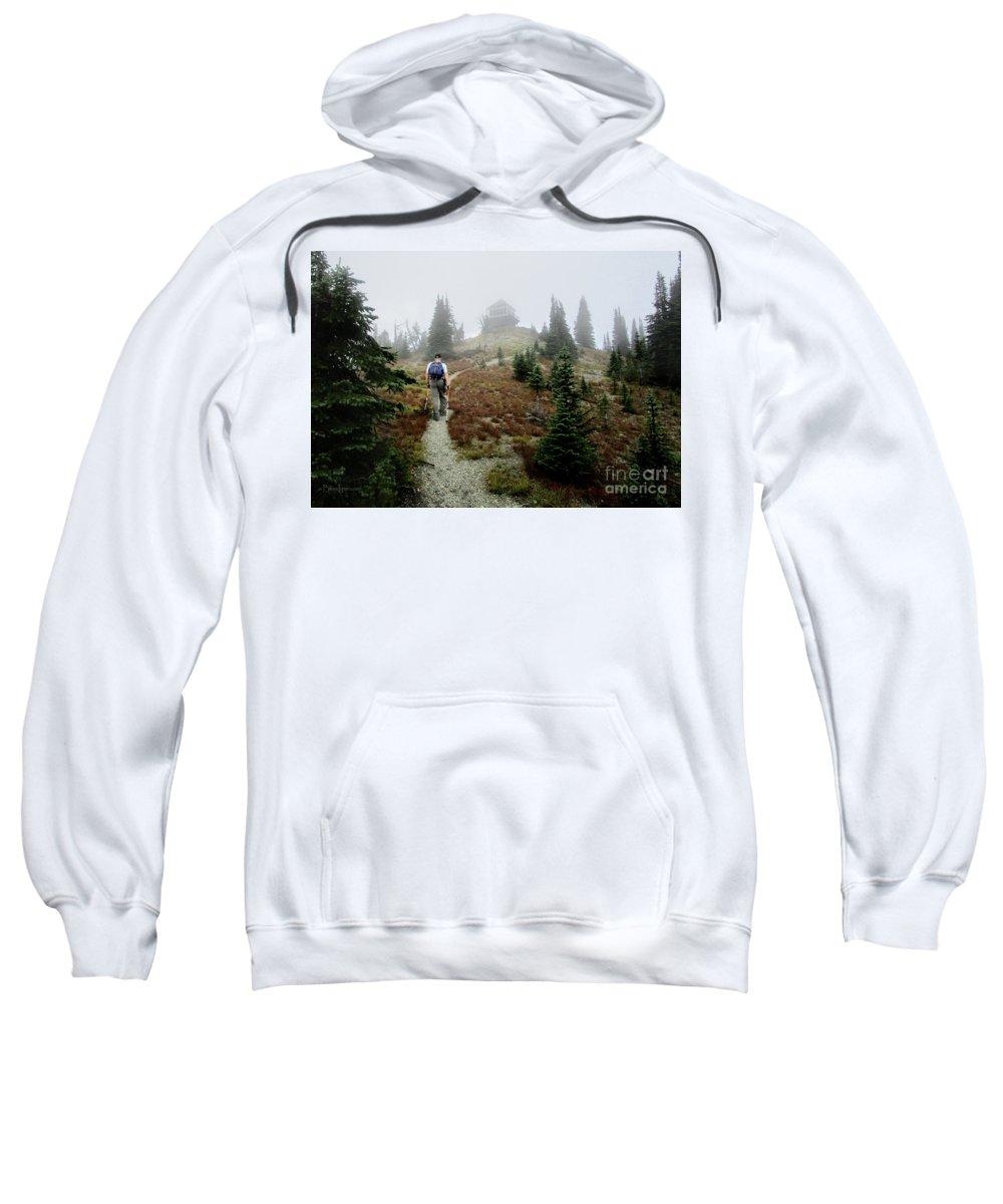 Montana Sweatshirt featuring the photograph Mt Brown Lookout - Glacier National Park by Bruce Lemons