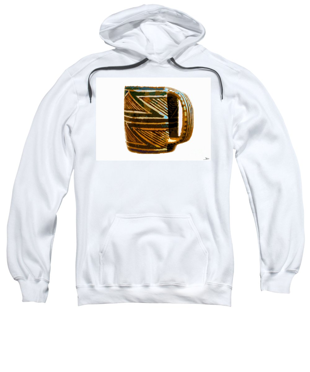 Anasazi Sweatshirt featuring the painting Mug Of The Anasazi by David Lee Thompson