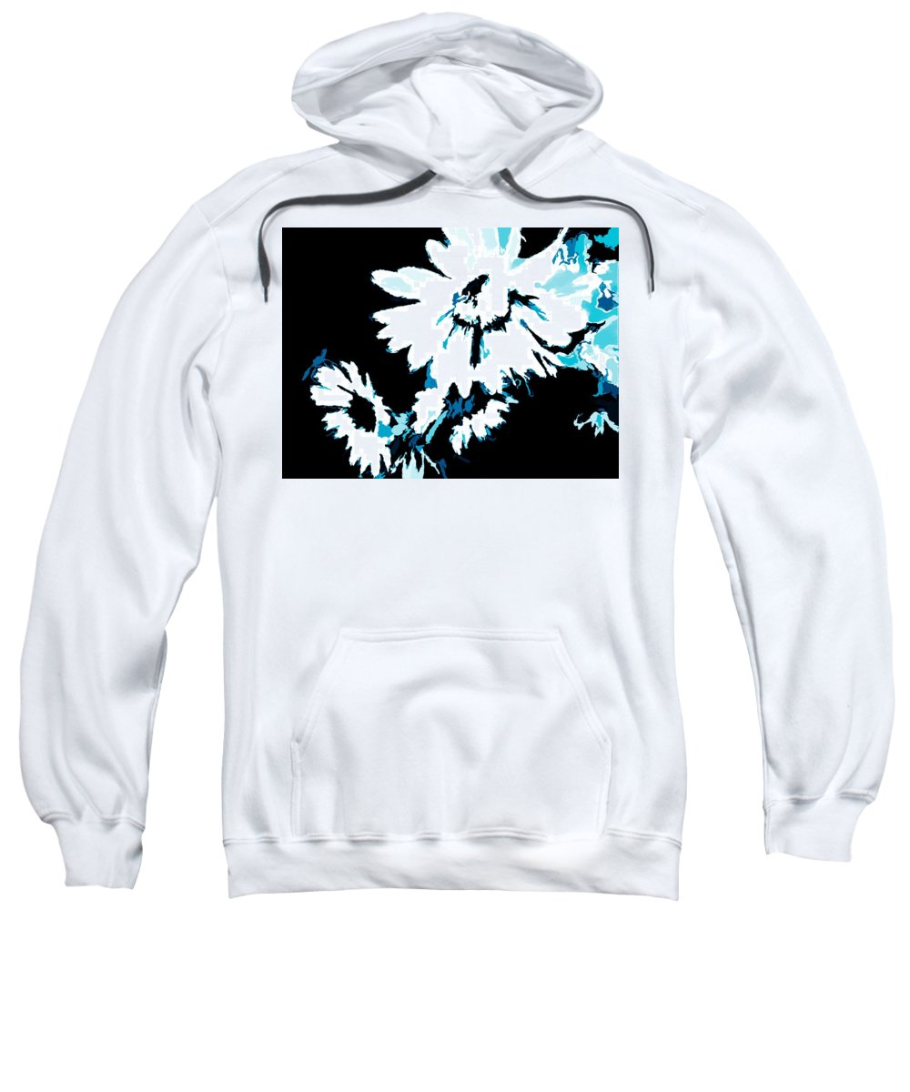 Mums Sweatshirt featuring the digital art Mums In Abstract by Debra Lynch