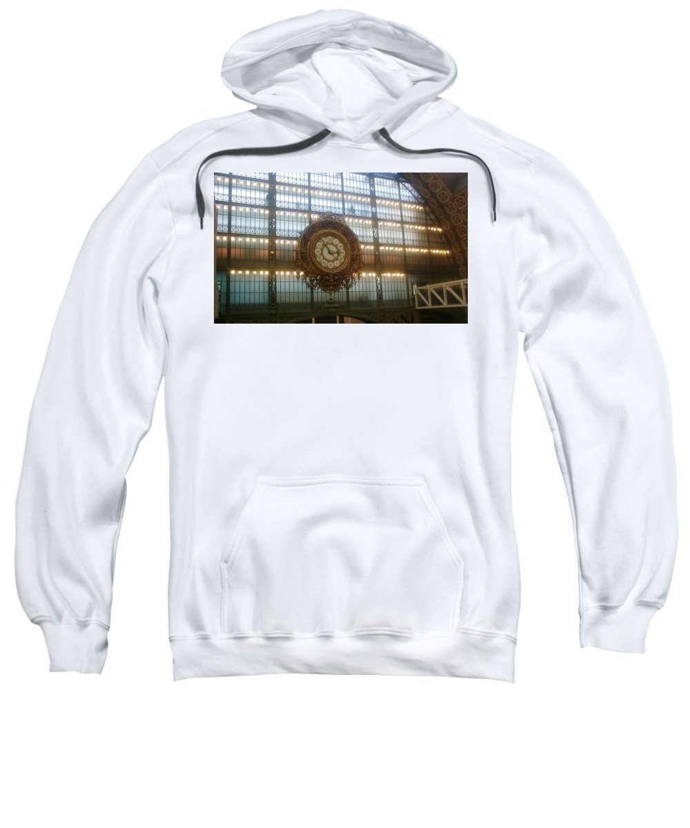 Museum Sweatshirt featuring the photograph Museum D'orsay Clock by Valerie Ornstein