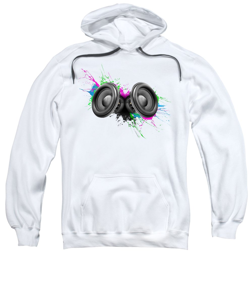 Speakers Sweatshirt featuring the photograph Music Speakers Colorful Design by Johan Swanepoel