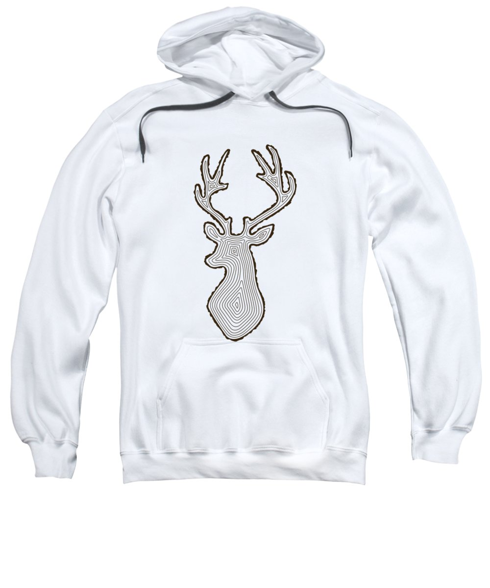 Forrest Sweatshirt featuring the digital art My Deer Tree by Corsac Illustration