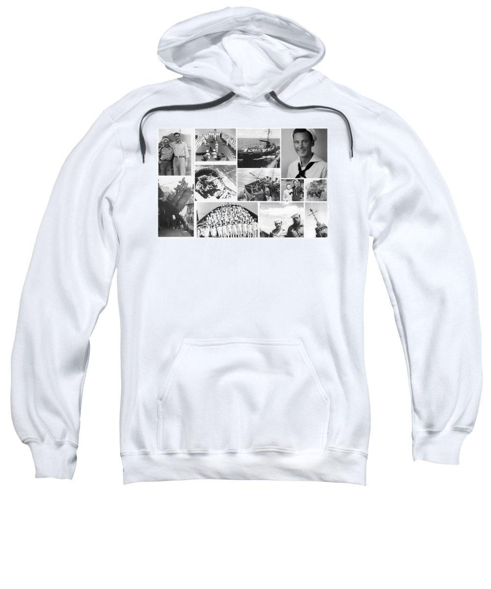 Navy Sweatshirt featuring the photograph My Father by Karol Livote