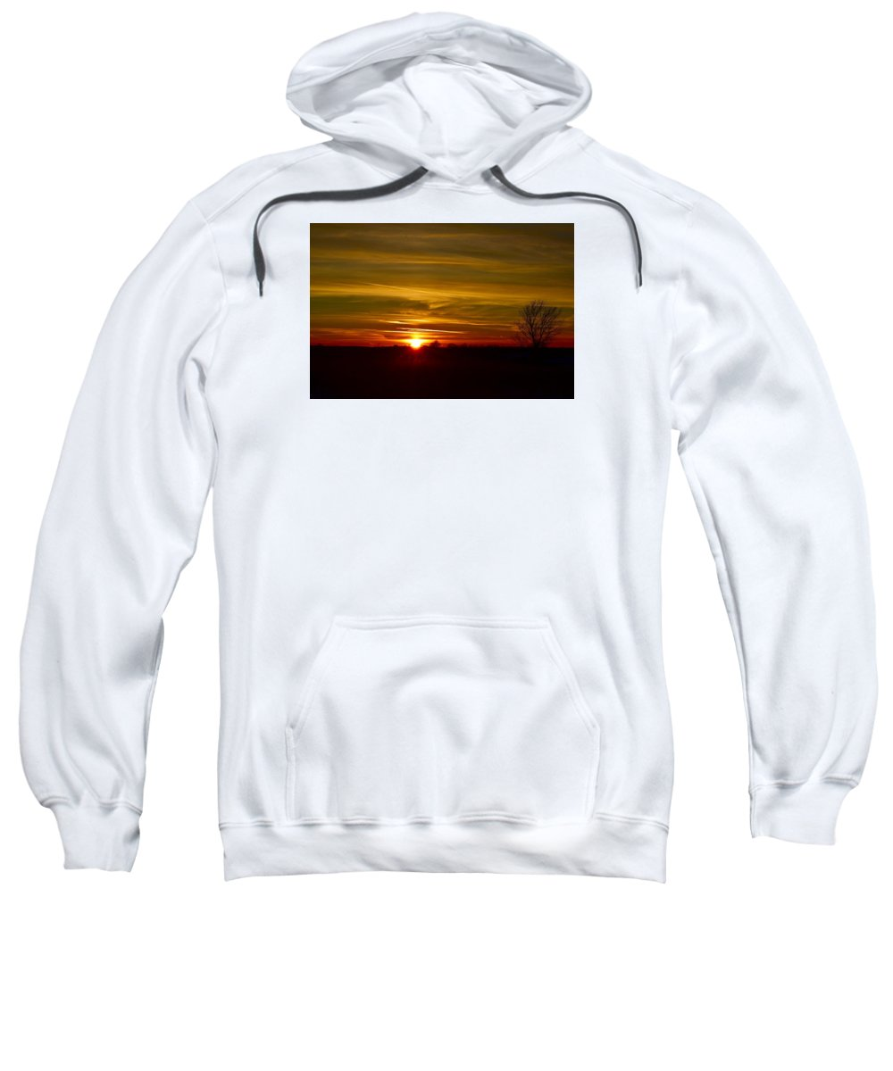 Sun Sweatshirt featuring the photograph My First 2016 Sunset Photo by Dacia Doroff