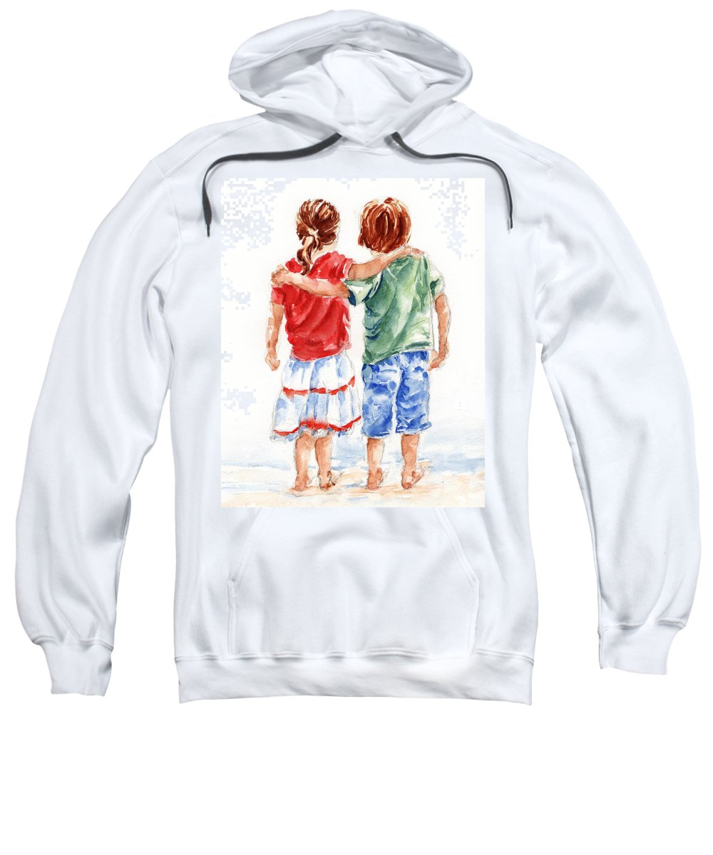 Watercolour Sweatshirt featuring the painting My Friend by Stephie Butler